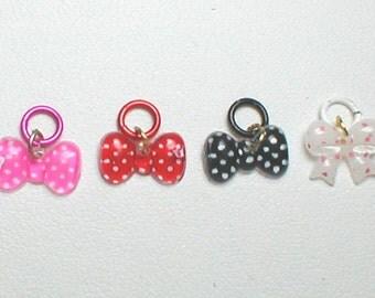 4 Polka Dot Bows no.20