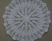 "Doily Vintage Swedish Made Hand Crochet  White Intricate   6"" Dmtr Several Available"