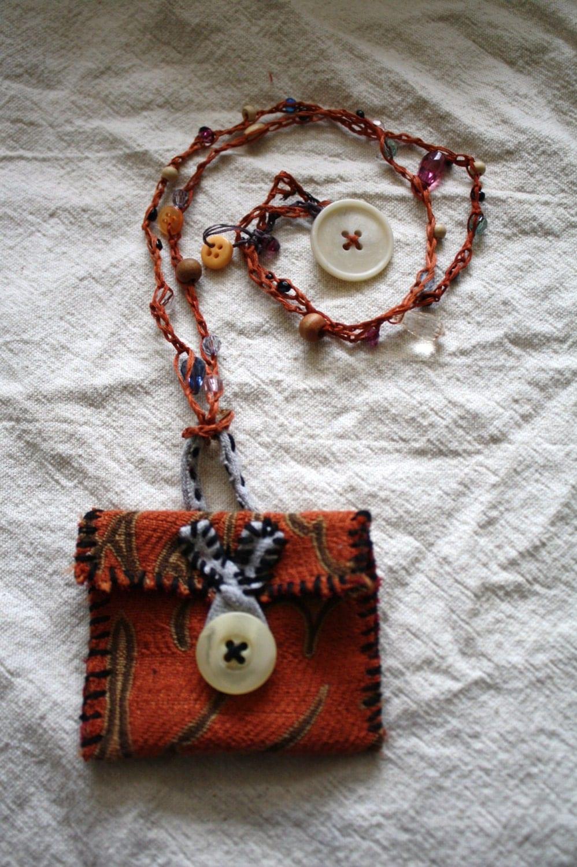 Amulet Jewelry Pendants Sothon: Medicine Pouch Pouch Necklace Amulet Necklace Wrap
