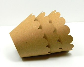 Kraft Paper Mini Cupcake Wrapper