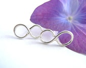 Infinity Sterling Silver Stud Earrings-Simple Sophisticated Edgy Jewelry Renegade Perceptions