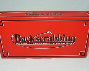 Backscrabbing The Game Of Backscratching & Backstabbing 1989 by C-Games Rare Board Game