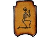 iPhone Leather Sleeve - Praying Skeleton