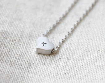 Personalized initial Heart Necklace - S2109 -3