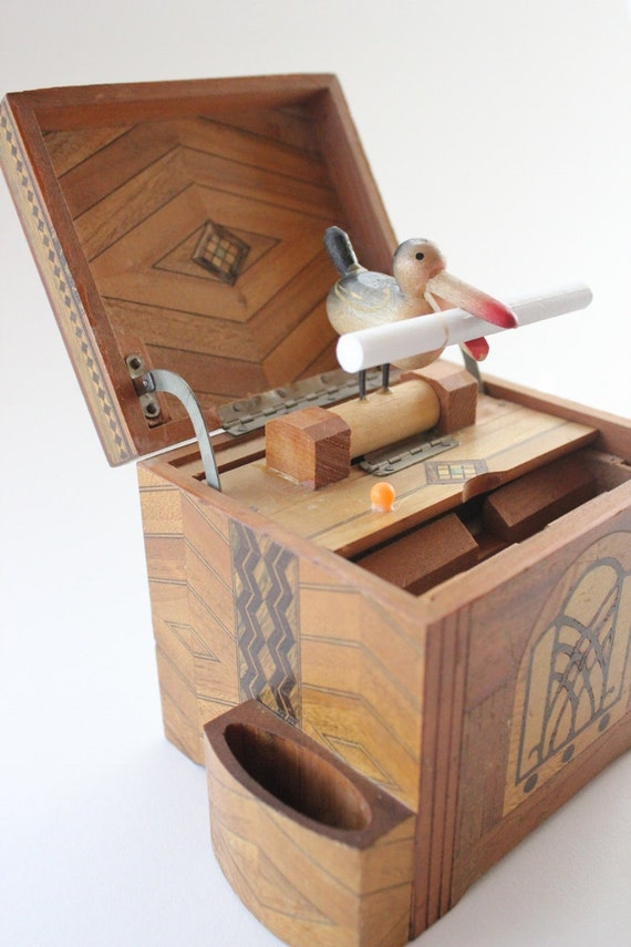 Wooden Cigarette Box Wood Box With Bird Bird Box Japan By