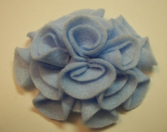 Add a Felt Flower to any Sleep Mask - Light Blue