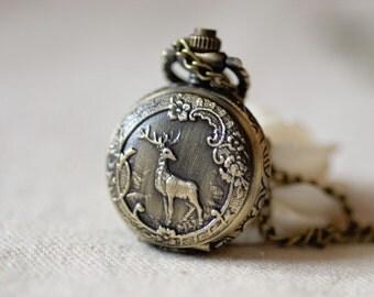 2pcs 26mm  Antiqued Bronze Color  Pocket Watches Charm Pendant