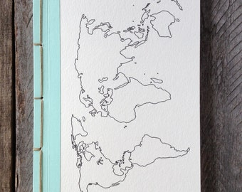 Made to Order Personalized Travel Journal- Choose Your Own Binding-As Featured in Do It Yourself Magazine