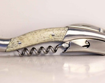 Custom bone Handle corkscrew wine opener