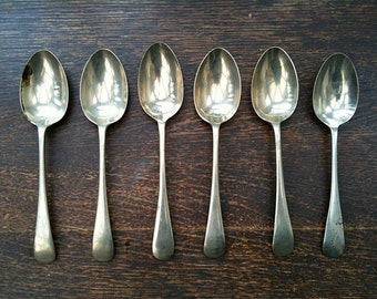 Vintage English Spoons Mixed Lot of 6 Pudding Sweet Soup circa 1940-50's / English Shop
