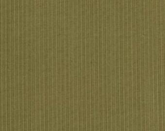 "1 yard 4"" of Audra's Iris Garden Leaf Tonal Lt Green Stripe by Brannock and Patek for Moda LAST PIECE"