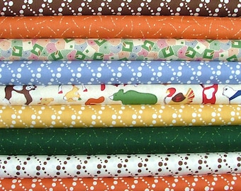 Half Yard Bundle of Doodle Zoo by Thimbleberries for RJR Fabrics