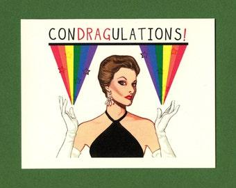 CONDRAGULATIONS - GAY CARD - Gay Greeting Card - Gay Congrats - Congratulations Card - Condragulations Card - Congratulations - Item# C007