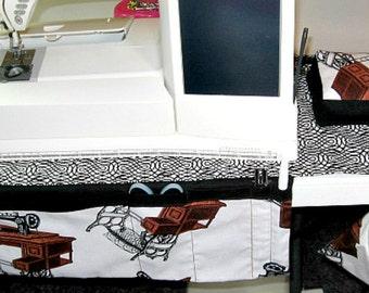 Sewing machine apron, caddy