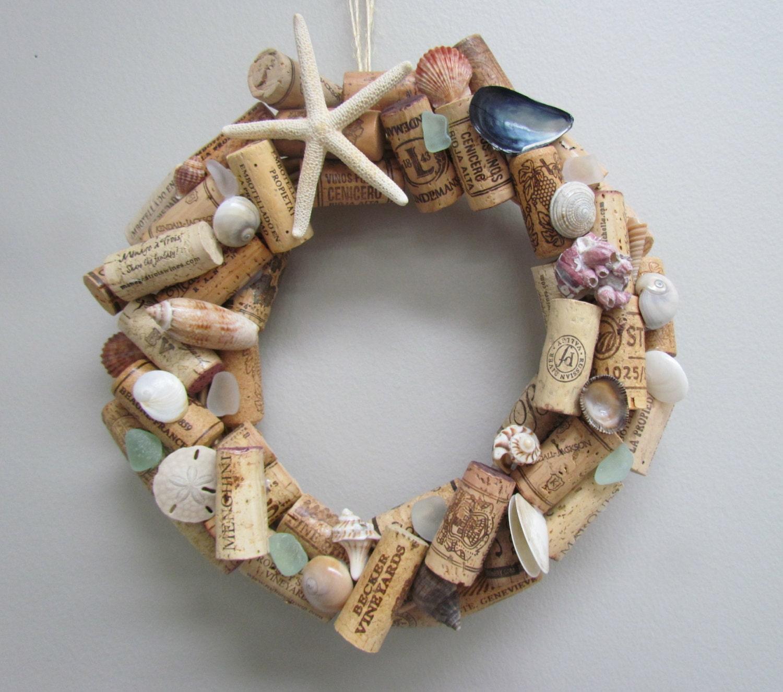 Cork Wreath: Seashell And Wine Cork Wreath