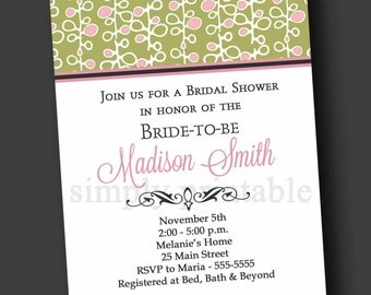 Bridal Shower Invitation (Digital File)