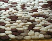 Hand felted rug
