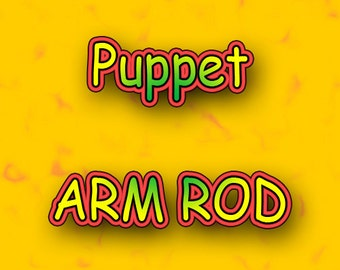 Arm Rod for Puppets removable or built in or elbow - Professional