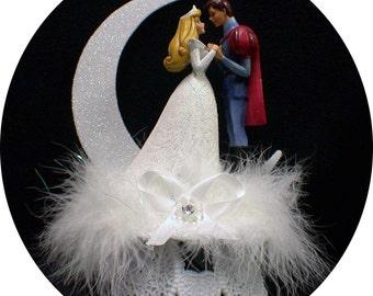 Disney Princess Sleeping Beauty and her Prince Charming Wedding Cake Topper Fariytale WHITE
