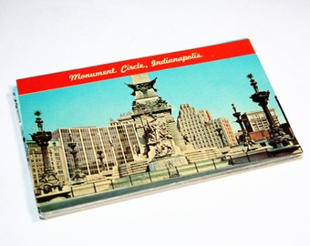 25 Vintage Indianapolis Indiana Chrome Postcards Blank - Wedding Guestbook