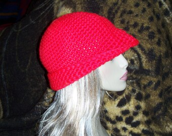 Crochet Hat with flower - Free Shipping to US and Canada