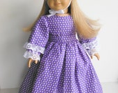 18 inch Doll Clothes fits American Girl - Colonial Dress & Bonnet