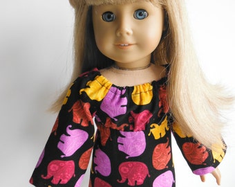 18 inch Doll Clothes fits American Girl Elephant Print Dress