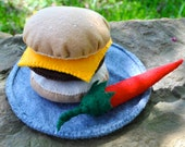 Felt Play Cheeseburger