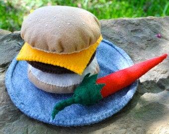 Felt Play Cheeseburger