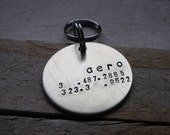 Custom Handstamped Dog/Pet ID Tag-The Rubette