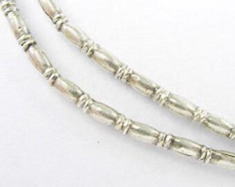 """40 of Karen Hill Tribe Silver Bamboo Beads 2x5 mm. 9""""  :ka1471"""