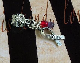 Chronic Migraine Awareness Charm Bead or Pendant, European Style