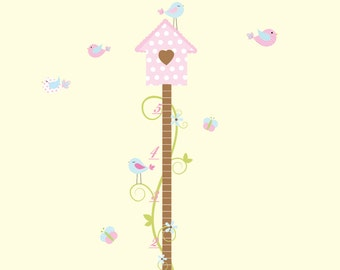 Growth Chart Wall Decal-Nursery Wall Decals Vinyl Stickers