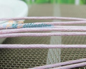 10M Light Pink Wax Cord, Very Fine 1.5mm, Super Thin Rope Strand