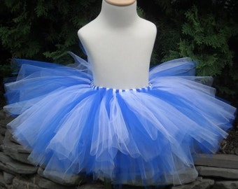 Blue and White Adult or Teen Tutu Bridesmaids