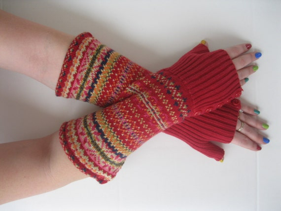 Fair Isle Fingerless Gloves — Crafthubs