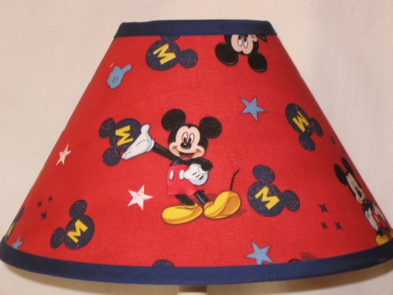Mickey lamp shade car essay items similar to red mickey mouse children39s lamp shade on aloadofball Images