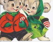 C346 Vintage Christmas Greeting Card by Hallmark for Aunt and Uncle