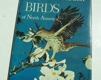 Vintage National Geographic Illustrated Book Song and Garden Birds of North America with Vinyl Records