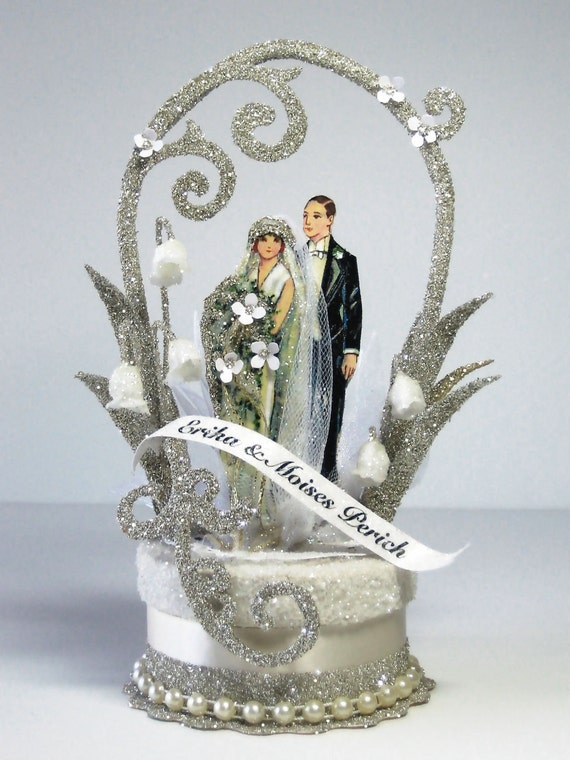 Items Similar To 1920 S Deco Wedding Cake Topper On Etsy