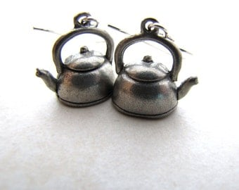 Tea Pot Teapot Earrings Tea Kettle Earrings Alice in Wonderland Mad Hatter Coffee