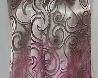 Hand Dyed Silk Scarf - Hand painted Scarves Devore - Claret - magenta (rose pink)  Satin & Chiffon Silk Mother's Day - women's fashion