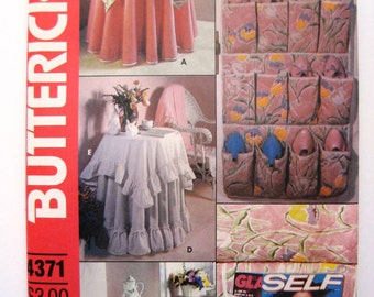 Vintage Tablecloth Pattern - UNCUT Butterick 4371 - Tablecloth and Accessories