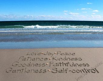 Fruit of the Spirit - Galations 5:22-23 Sand Writing