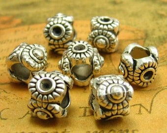 20 pcs Silver Bracelet Beads Metal Beads 12x12mm CH1295