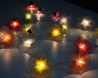 Dark Purple flower string lights for PatioWeddingParty and