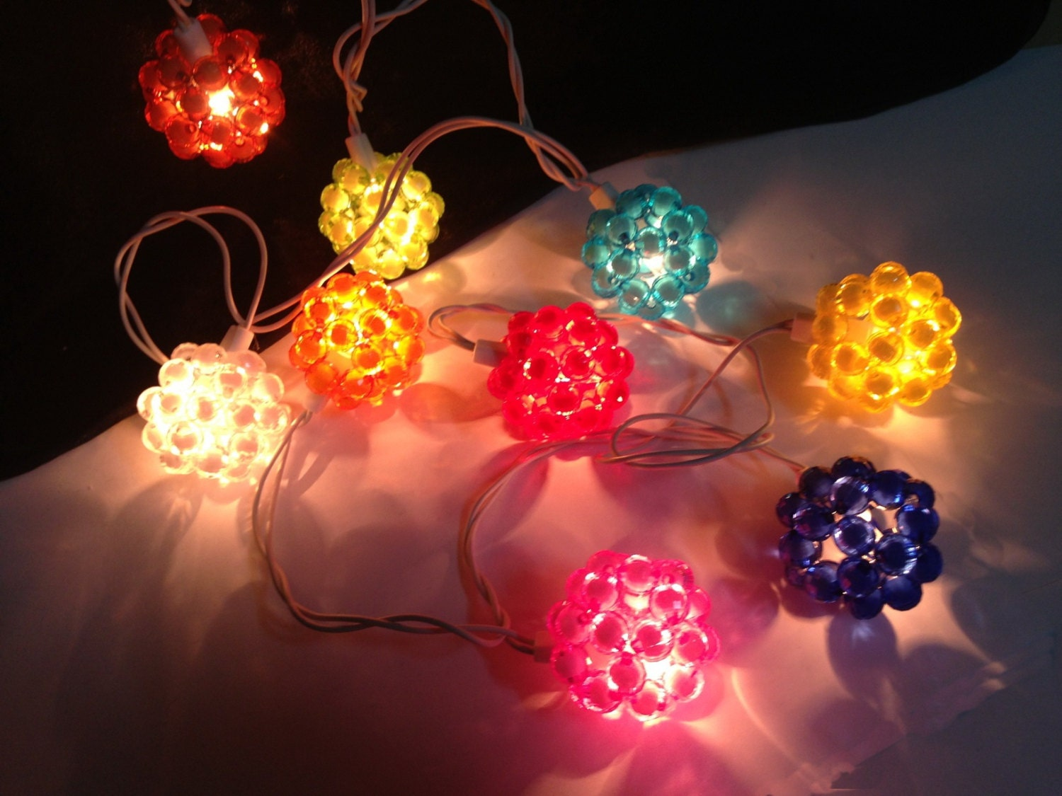 Custom Party String Lights : 20 Bulbs Colorful Bead string lights for PatioWeddingParty