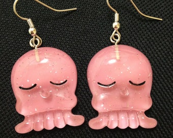 Bbay Pink Octopus earrings