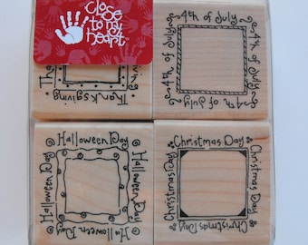 CTMH Close to my heart - Stamp Set - S336 Holiday Mini Cards 2 - Set 4