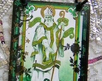 St. Patricks Greeting Erin Go Bragh Decorative Plaque